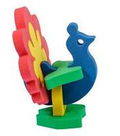 Дерев'яні конструктори - іграшка для дітей павич