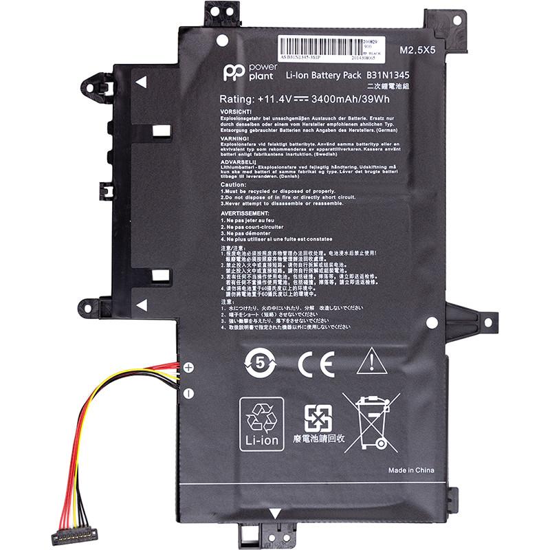 Аккумулятор PowerPlant для ноутбуков ASUS Transformer Book Flip TP500L (B31N1345) 11.4V 3400mAh