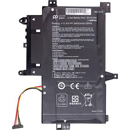 Аккумулятор PowerPlant для ноутбуков ASUS Transformer Book Flip TP500L (B31N1345) 11.4V 3400mAh, фото 2