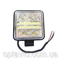 Светодиодные фары ОПТОМ! LED (лэд) фара+СТРОБОСКОП мигалка 34 диода. 48 Вт. 12-24 Вольт.