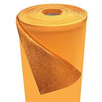 Фоамиран 2мм глиттерный, 1,0м оранжевый золото 1903