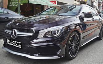 Решетка радиатора Mercedes CLA C117 стиль AMG дорест. (черная + серебро)