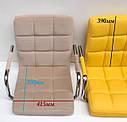 Червоний стілець барний еко-шкіра з підставкою для ніг для салонів краси та кафе AUGUSTO BAR CH-Base, фото 3