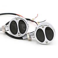 Світлодіодні заверни мото \ покажчики повороту + стоп 12В LED 2 Вт, Custom хром