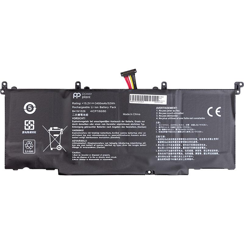 Аккумулятор PowerPlant для ноутбуков ASUS ROG S5 (B41N1526) 15.2V 3400mAh