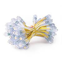 Світлодіодний піксель одноколірний LMS-PS-9W-5V, 9мм, 5В жовтий