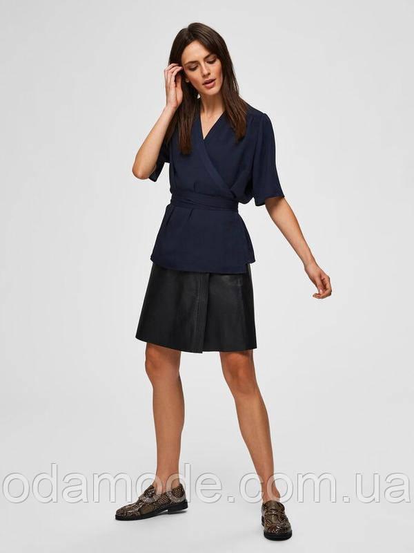 Женская синяя блузка Selected