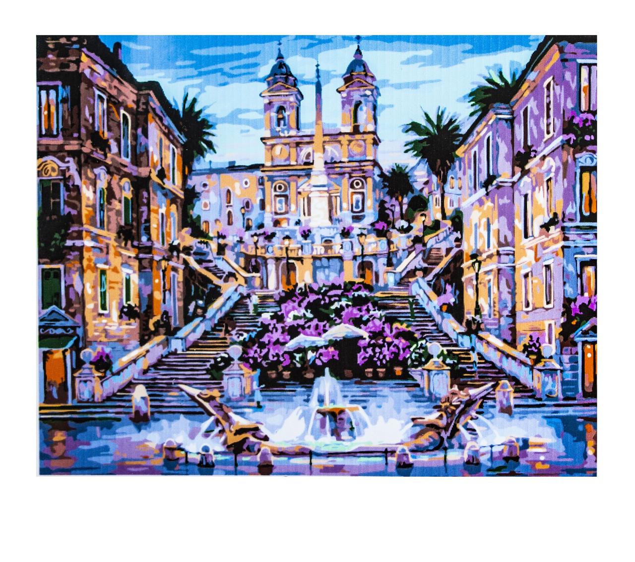 Картина по номерам Городская Площадь, размер 40х50