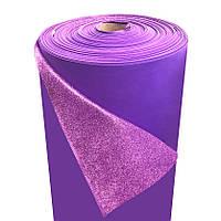 Фоамиран 2мм глиттерный, 1,0м фиолетовый 1919