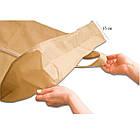 Чехол для объемной одежды с ручками 60*150*15 см (бежевый), фото 3