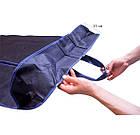 Чехол объемный для хранения одежды с ручками 60*150*15 см (синий), фото 3