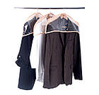 Комплект накидок-чехлов для одежды 3 шт (бежевый), фото 4