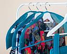 Комплект накидок-чехлов для одежды 3 шт (лазурь), фото 5