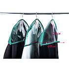 Комплект накидок-чехлов для одежды 3 шт (лазурь), фото 2