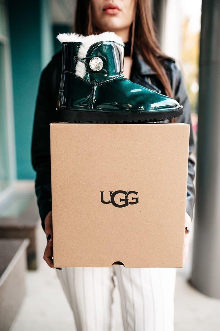 Женские зимние ботинки UGG (мех)