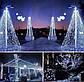 Новогодняя гирлянда 1000 LED, 65 м Белый теплый цвет с холодной белой вспышкой (flash), фото 3
