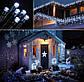 Новогодняя гирлянда 1000 LED, 65 м Белый теплый цвет с холодной белой вспышкой (flash), фото 5