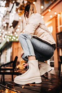 Женские зимние ботинки The Row Womens Natural Zipped 1 (без меха)
