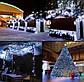 Новогодняя гирлянда 1000 LED, 65 м Белый теплый цвет с холодной белой вспышкой (flash), фото 9