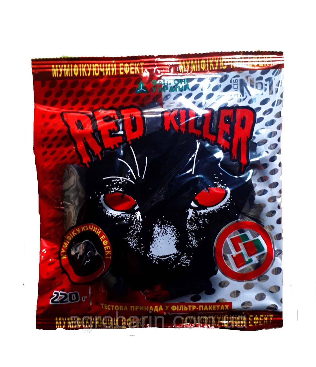 Ред Киллер тесто (двух цветное) 220г от крыс и мышей, оригинал.