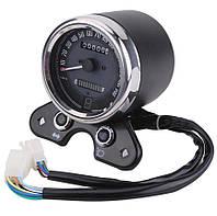 Універсальна ретро приборна панель для мотоцикла, спідометр, механічний, одометр + USB