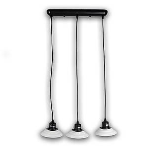 Люстра подвесная на три лампочки P3-18300A/3LP/BK+WT