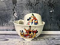 """Набор детский """"Микки Маус"""": чашка 210 мл и пиала 480 мл, фото 1"""