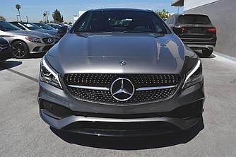 Решетка радиатора Mercedes CLA C117 (16-19) AMG Diamond (черный глянц)