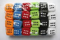 Підвіска з присоском в авто Куб текстильний, кубик зарик м'який, упаковка 24 шт