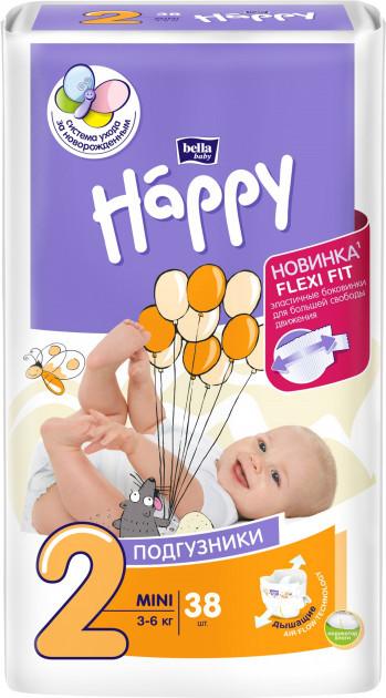 Подгузники детские Bella Baby Happy Mini 3-6 кг 38 шт (5900516600709)