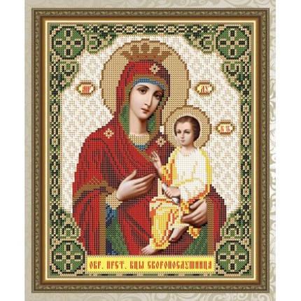 """Рисунок на ткани для вышивания бисером """"Скорополушница Образ Пресвятой Богородицы"""", фото 2"""