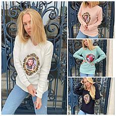 Кофта, свитер женский с аппликацией  X&Y, фото 2