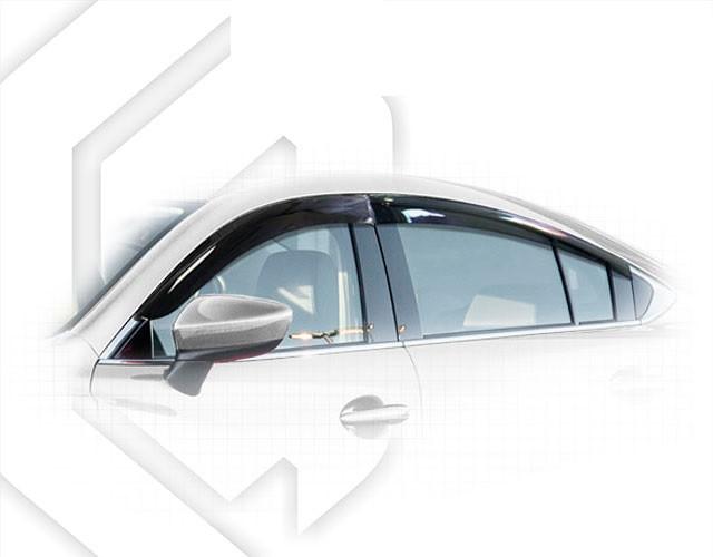 Дефлекторы окон Mazda 6 III Sd 2012 | Ветровики Мазда 6