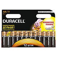 Батарейка АА 12шт DURAСELL Basic 1.5V LR6 алкалиновая Бельгия