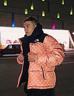 Пуховик мужской зимний The North Face & Gucci   куртка мужская зимняя оверсайз