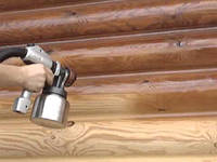 Покраска деревянного дома, фото 1