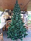 Сосна искусственная 2.2 м Микс Заснеженная зеленая, новогодняя заснеженная сосна жилка-ПВХ с подставкой, фото 2