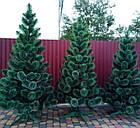 Сосна искусственная 2.2 м Микс Заснеженная зеленая, новогодняя заснеженная сосна жилка-ПВХ с подставкой, фото 7