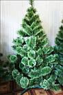 Сосна искусственная 2.2 м Микс Заснеженная зеленая, новогодняя заснеженная сосна жилка-ПВХ с подставкой, фото 9