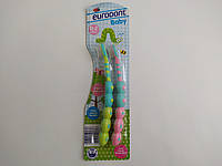Детские зубные щетки Eurodont baby от 0 до 2 лет 2 шт, фото 1