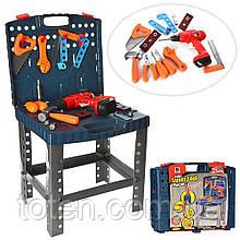 Набор инструментов 661-74 Верстак, дрель - механич.вращ.сверло, 50 предметов, в чемодане