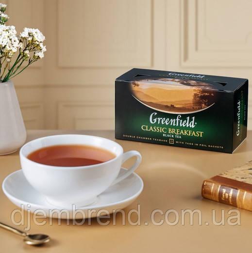 Чай Greenfield Greenfield Classic Breakfast - Черный байховый, пакетированный 25 шт