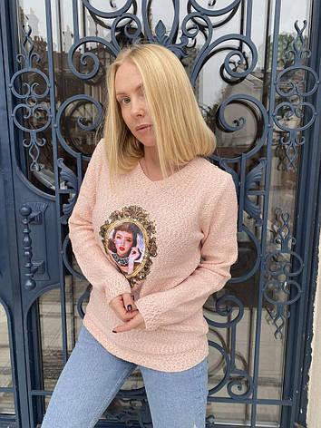 Кофта, светр жіночий з аплікацією X&Y, фото 2