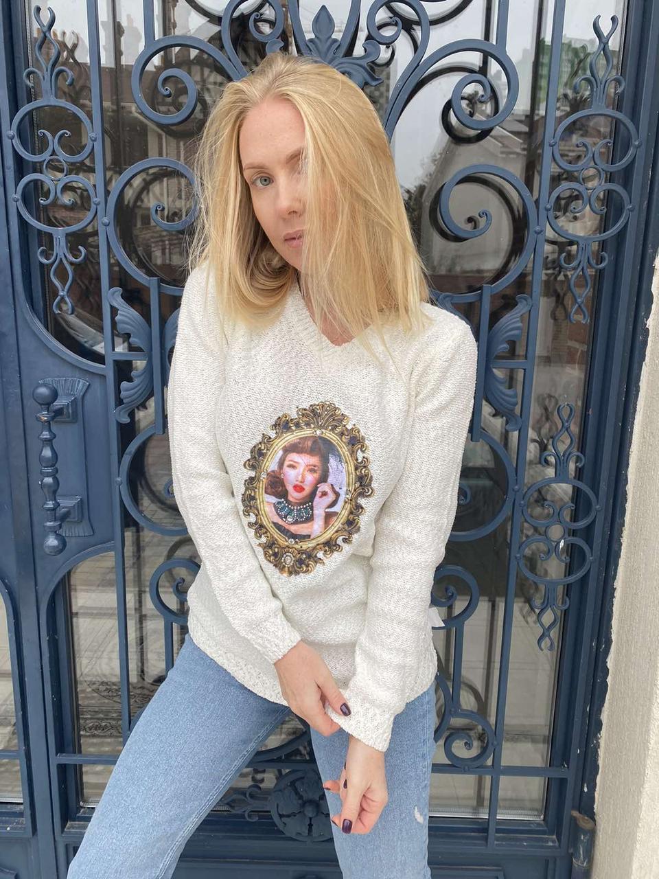 Кофта, свитер женский с аппликацией  X&Y