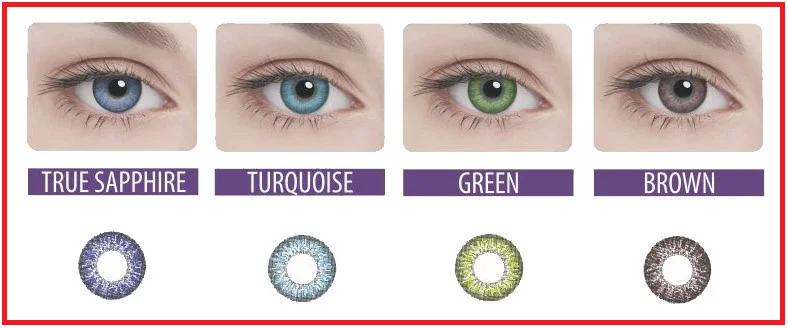 Цветные контактные линзы Adria 2 tone на 3 месяца, (2 шт), Interojo