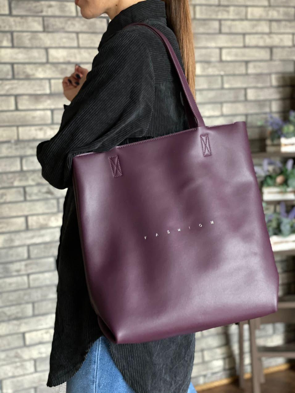 Женская кожаная сумка шоппер polina&eiterou