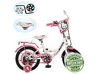 """Велосипед детский """"Китти"""" 12д. HK 0073, розово-белый"""