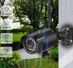 IP камера відеоспостереження бездротова вулична зовнішня BESDER 1080p 2 Mp 6024 Wi-Fi POE, фото 2