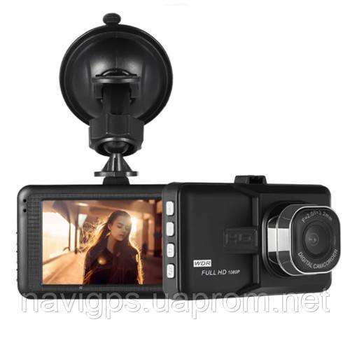 """Автомобільний відеореєстратор 626-2, LCD 3"""", Angel Lens, 1080P Full HD, металевий корпус"""