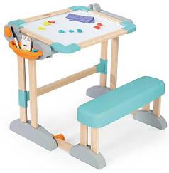 Дитяча парта з двосторонньою дошкою для малювання Smoby 420301